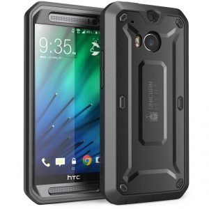 Full-body Rugged Hybrid Protective Case with Built-in Screen Protector for HTC One M8