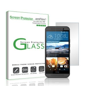 amFilm Tempered Glass Screen Protector for HTC One M9